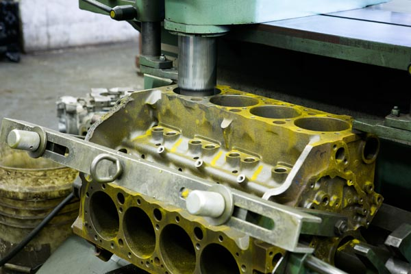 how to find out the size of an engine block