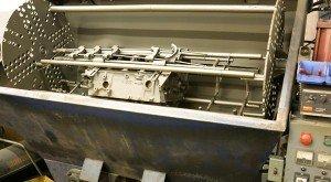 engine-block-in-shot-peen-machine