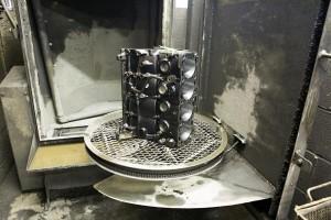 gas-engine-block-in-hi-pressure-jet-wash
